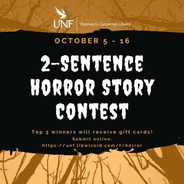Poster for 2-Sentence Horror Story Contest