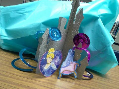 A castle with Disney's Cinderella for a centerpiece