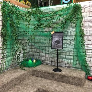 Photo of the inside of the escape room
