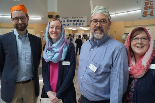 Representatives from the library at the Interfaith Discussion about Holy Books