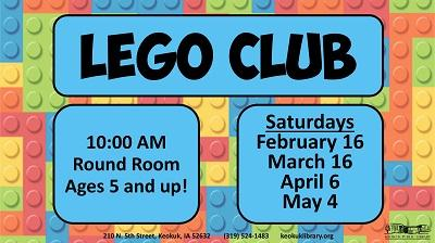 Monthly Lego Club sessions was the first step for a fruitful partnership for the Keokuk Public Library and the Hoerner YMCA