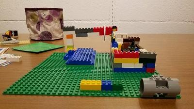 With easy set up and clean up, the Keokuk Public Library and Hoerner YMCA partnership allows children to play with Legos in a stimulating environment
