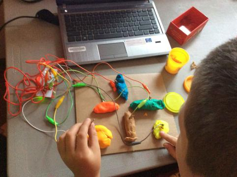 The Makey Makey in use