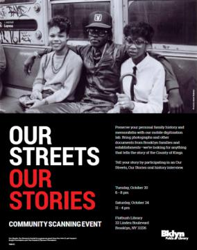Our Streets, Our Stories flier