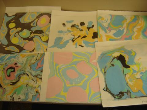 Set of six ink prints