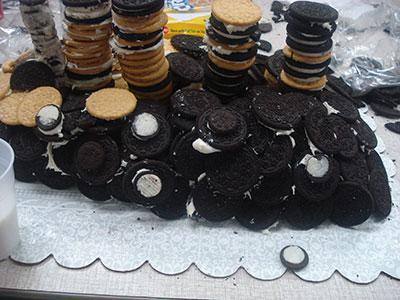 Titanic model made from Oreos