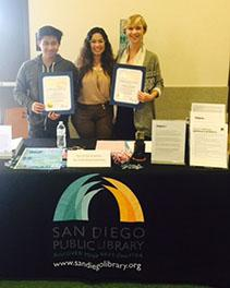 Teen Peer Advocates receive recognition from the library.