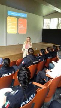 An event about sex trafficking for police officers in Mexico.