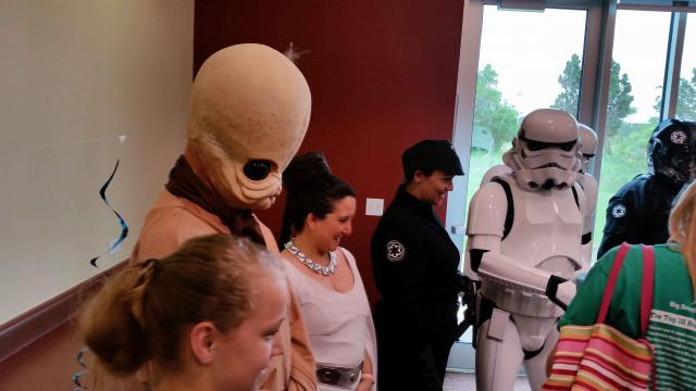 Cosplayers dressed as Star Wars characters