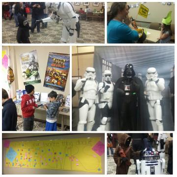 Photo collage of Star Wars celebration