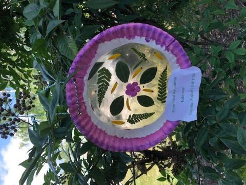 Suncatcher made from a paper plate
