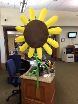 Sunflower info desk back
