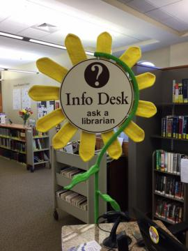 Sunflower info desk front