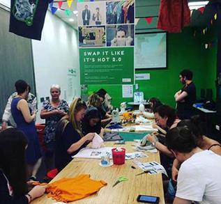 People attend a Swap It Like It's Hot workshop