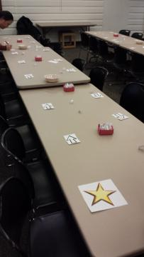 Table set-up for Friend Speed Dating