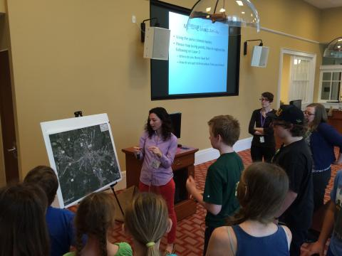 Presentation about a map