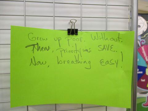 A haiku written during the event.