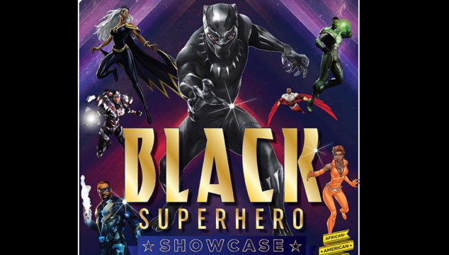 Black superhero poster