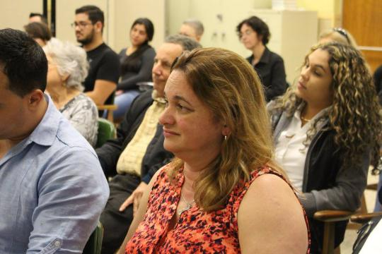 Attendee listening to Jennine Capó Crucet