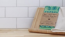 beeswax wrap on a kitchen counter