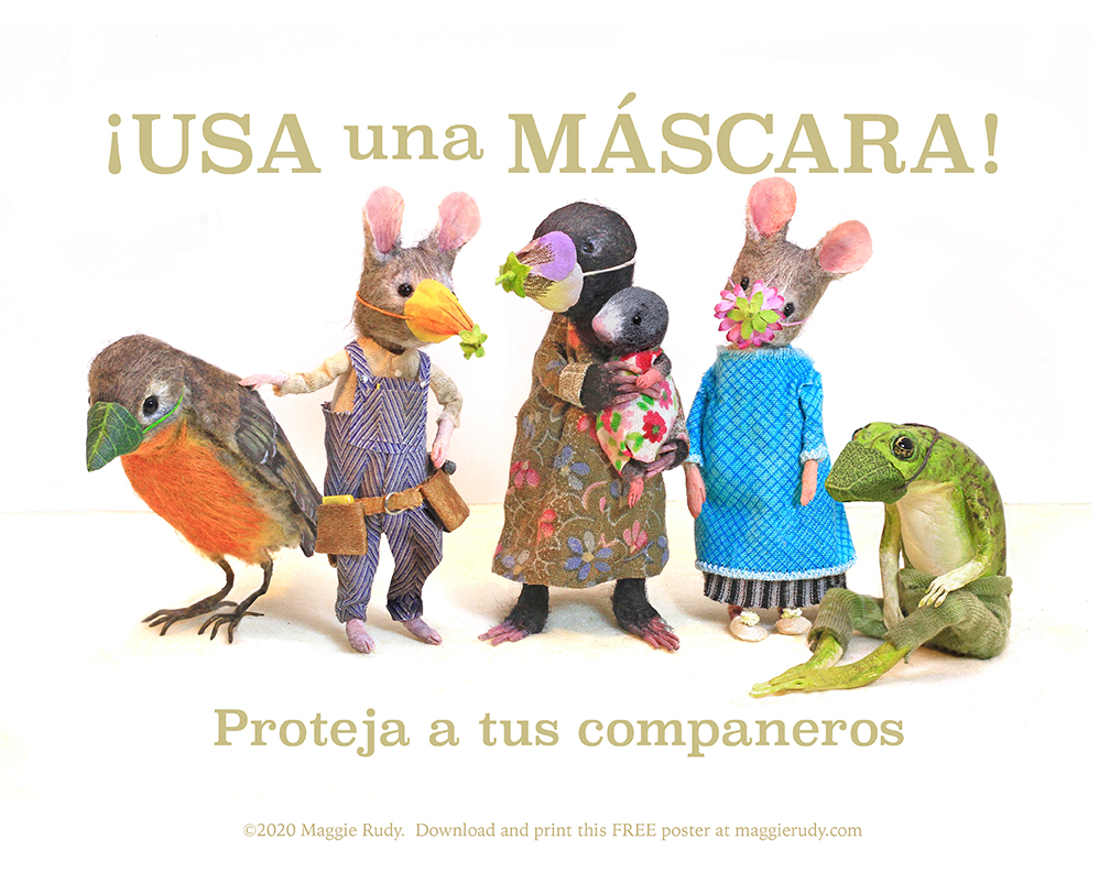 """Wear a Mask!"" poster in Spanish"