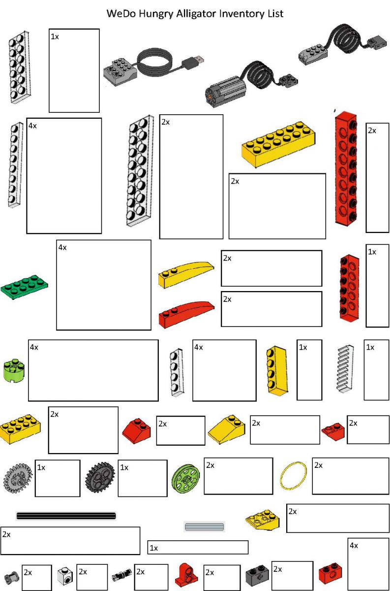 WeDo Alligator inventory card